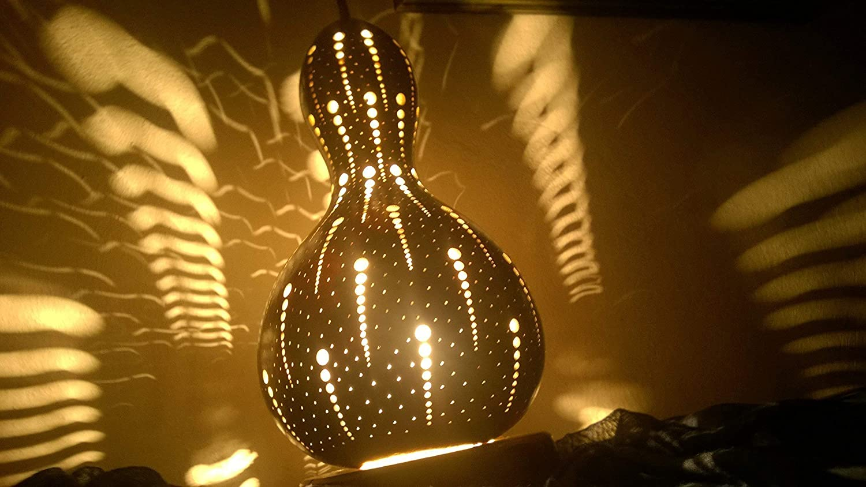 The Aboriginal | Gourd Lamp Night Light Unique Birthday Gift Idea Her Women Home Decor Interior Ambient Lighting