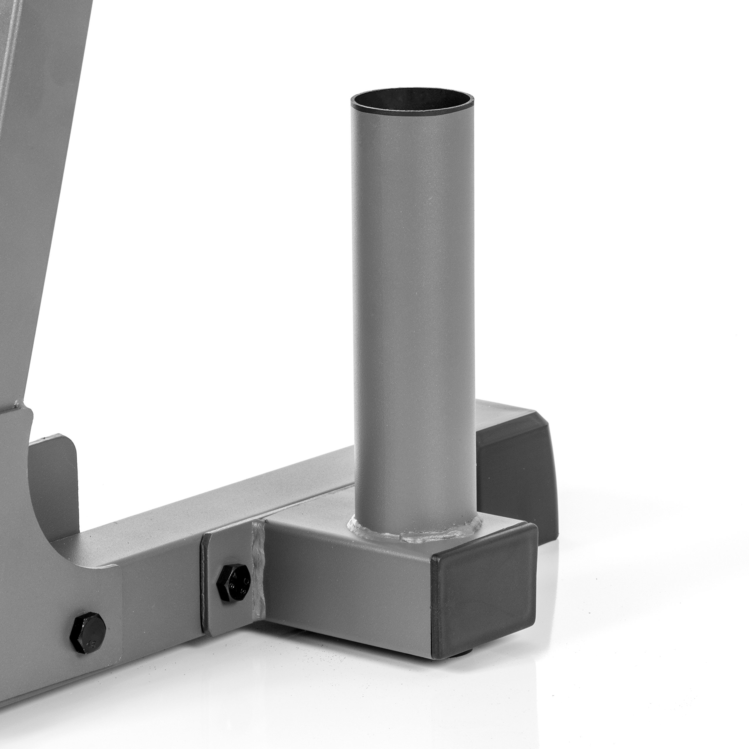 XMark All-in-One Dumbbell Rack, Plate Weight Storage and Dual Vertical Bar Holder, Design Patent Pending by XMark (Image #4)