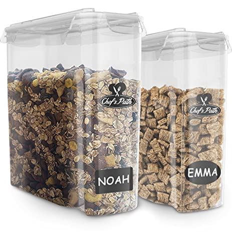 BEST CEREAL STORAGE CONTAINERS SET   100% Airtight Dry Food Keepers,   W/