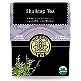 Organic Skull Cap Tea - Kosher, Caffeine-Free, GMO-Free - 18 Bleach-Free Tea Bags