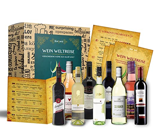 Wein Geschenk Set 9 X 025l Besonderes Weingeschenk Box