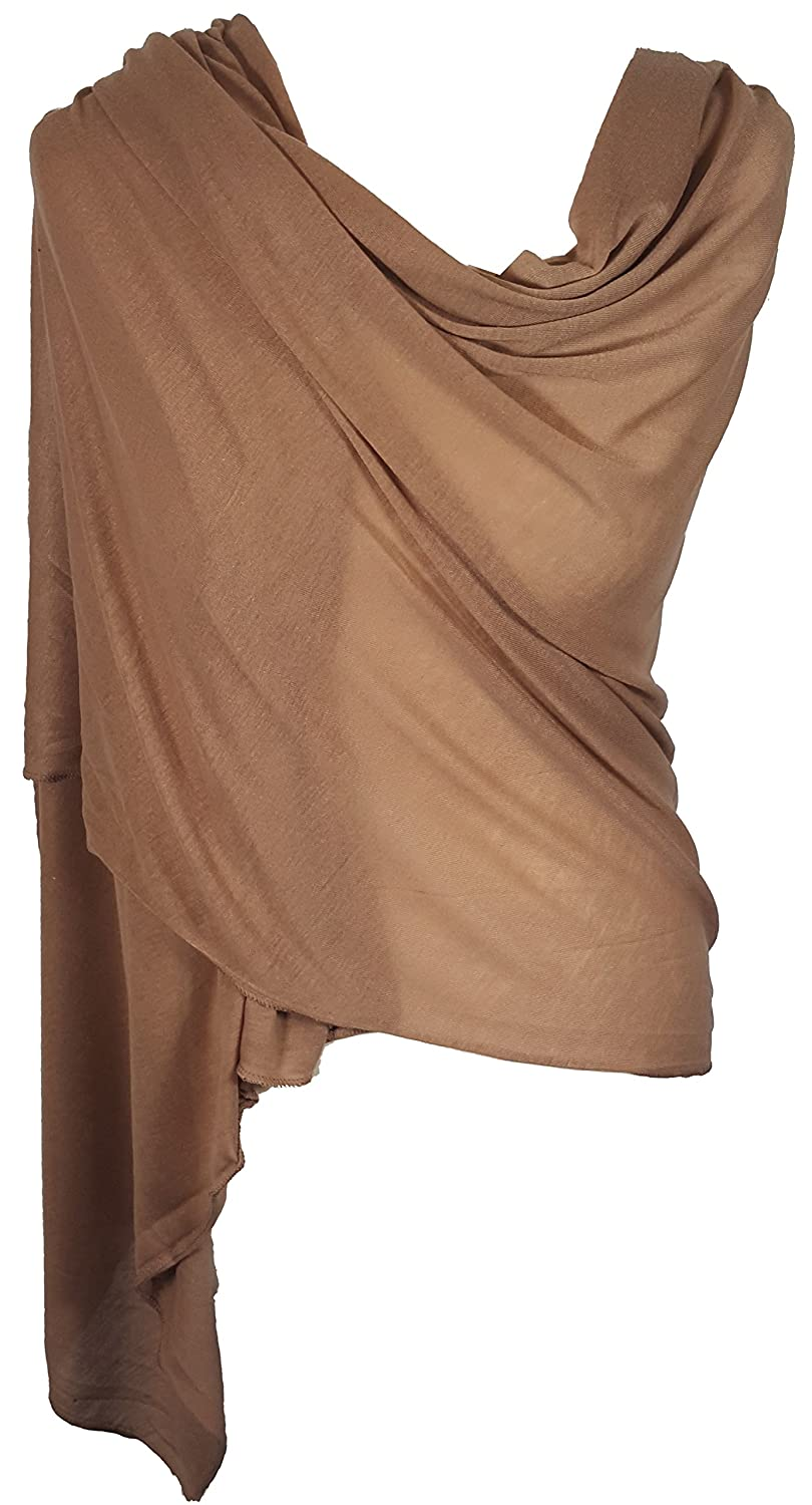 Ladies Jersey Scarf Wrap Stole Warm Soft Stretchy