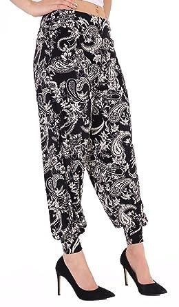 New Ladies Paisley Printe High Waisted Alibaba Hareem Pant Baggy Trouser UK 8-26