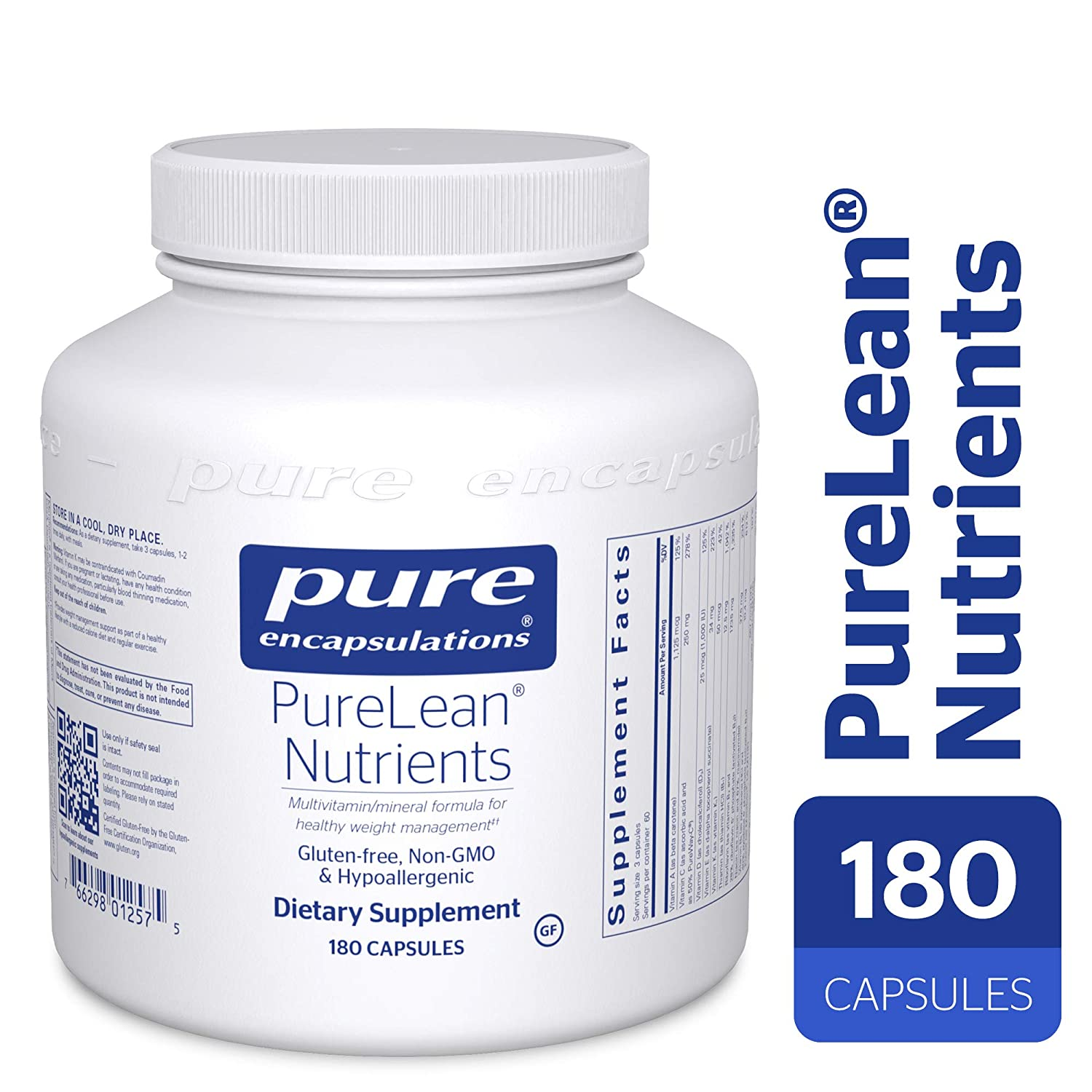 Pure Encapsulations – PureLean Nutrients – Hypoallergenic Supplement for Healthy Glucose Metabolism and Weight Management** – 180 Capsules