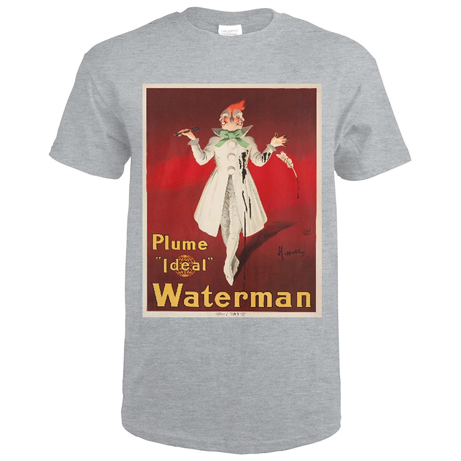 Amazon.com: Waterman - Plume Ideal Vintage Poster (artist: Cappiello,  Leonetto) France c. 1913 (Sport Grey T-Shirt Large): Clothing