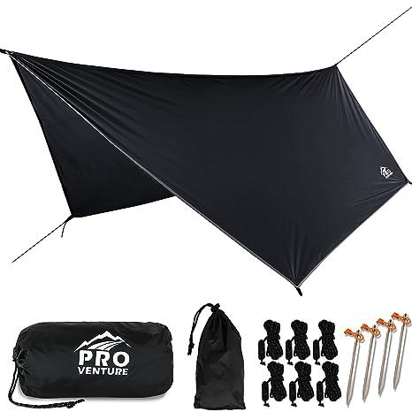 163924462 Pro Venture [12 FT Hex Waterproof Hammock RAIN Fly - Portable Large Rain  Tarp - Premium Lightweight Ripstop Nylon - Fast Set Up - Hammock Camping  Essential!