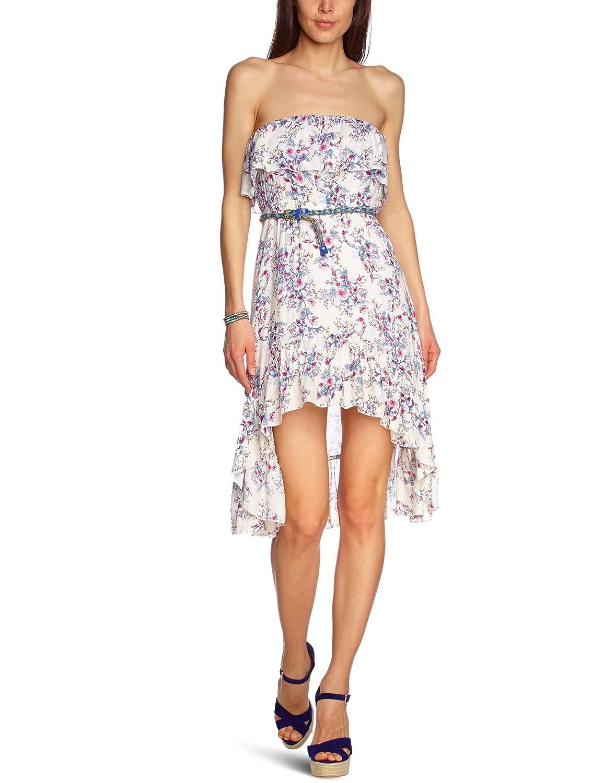 Pepe Jeans Damen Kleid Viskose Dress Floral, Größe: L, Farbe: Rosa