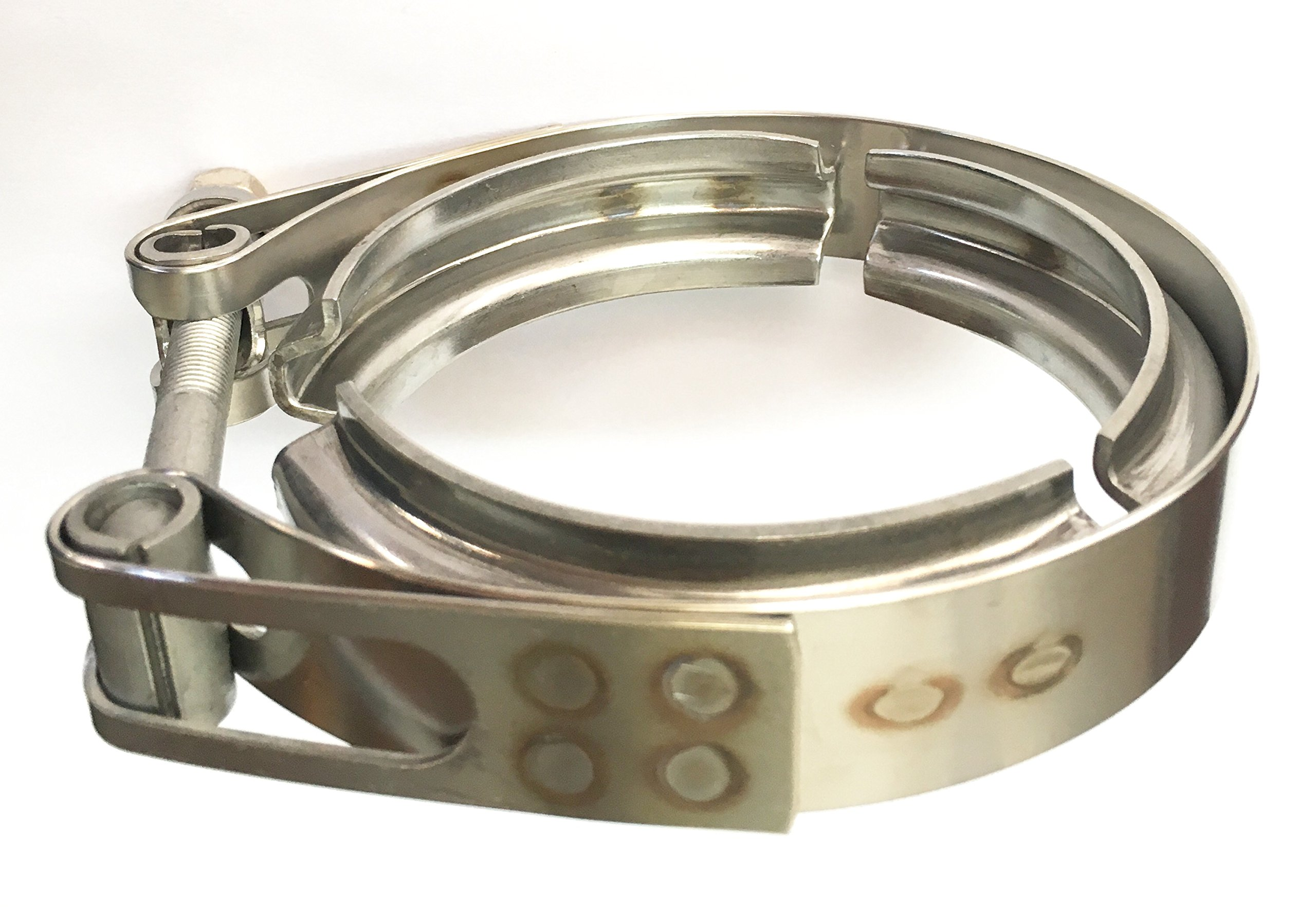 Ticon Industries - 3'' Stainless Steel V-Band Clamp (qty1) - Heavy Duty Bolt - 119-07600-0000