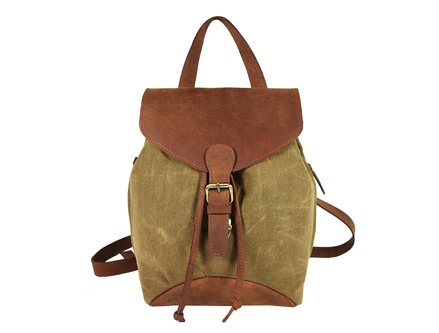 BagWatiIN Vintage Waterproof Leather Canvas Messenger Shoulder Bag