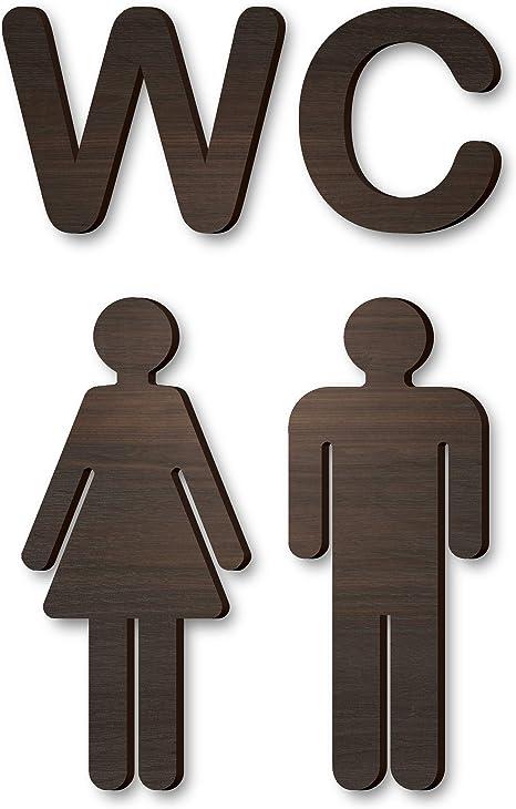 WC Bathroom Door Sign