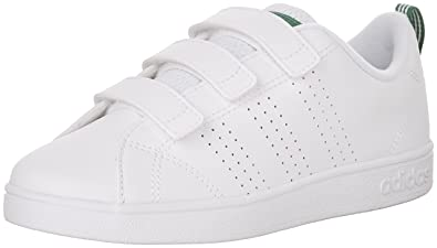 adidas Boys' VS Advantage Clean CMF C Sneaker, White/White/Green,