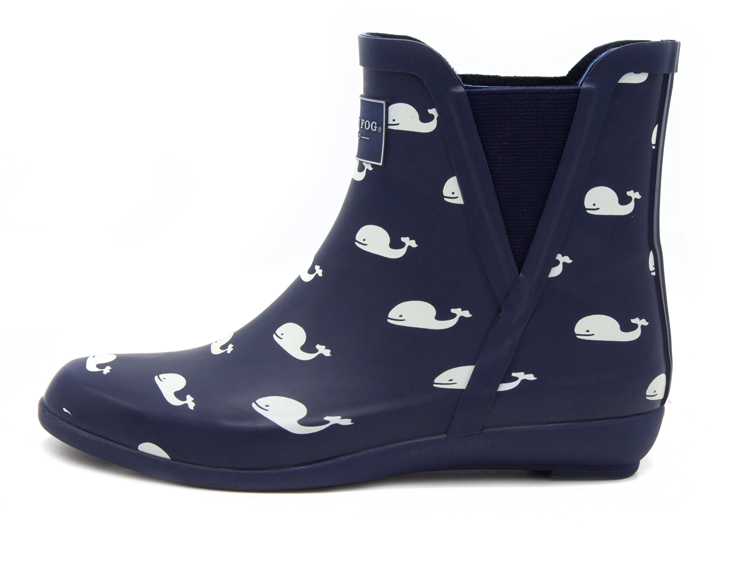 London Fog Womens Piccadilly Rain Boot Navy Whales 9 M US by London Fog (Image #2)