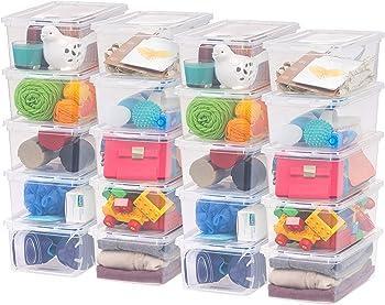 20-Pack IRIS USA Inc CNL-5 Storage Box, 5 Quart
