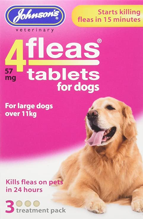 Johnsons Vet 4fleas Tablets for Dogs 3 Treatment Pack - D092
