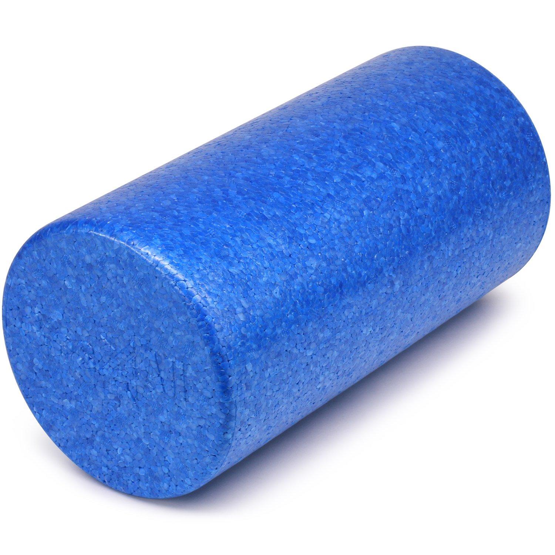Yes4All EPP Exercise Foam Roller – Extra Firm High Density Foam Roller – Best for Flexibility and Rehab Exercises (12 inch, Blue)