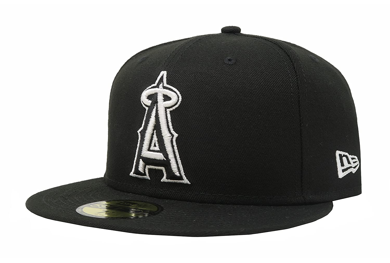ce2e40c81f3 Amazon.com  NEW ERA Anaheim Angels Black MLB 59fifty Fitted Cap