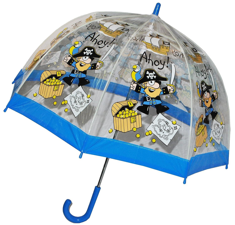 Paraguas/pirata Cofre del Tesoro - Niños Pantalla Transparente Diámetro 70 cm - Niños Stock pantalla - para joven paraguas kinderregenschirm/Campana ...