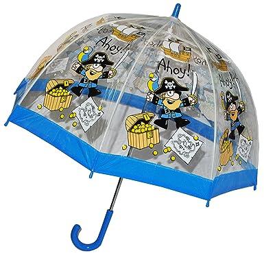 Paraguas/pirata Cofre del Tesoro – Niños Pantalla Transparente Diámetro 70 cm – Niños Stock
