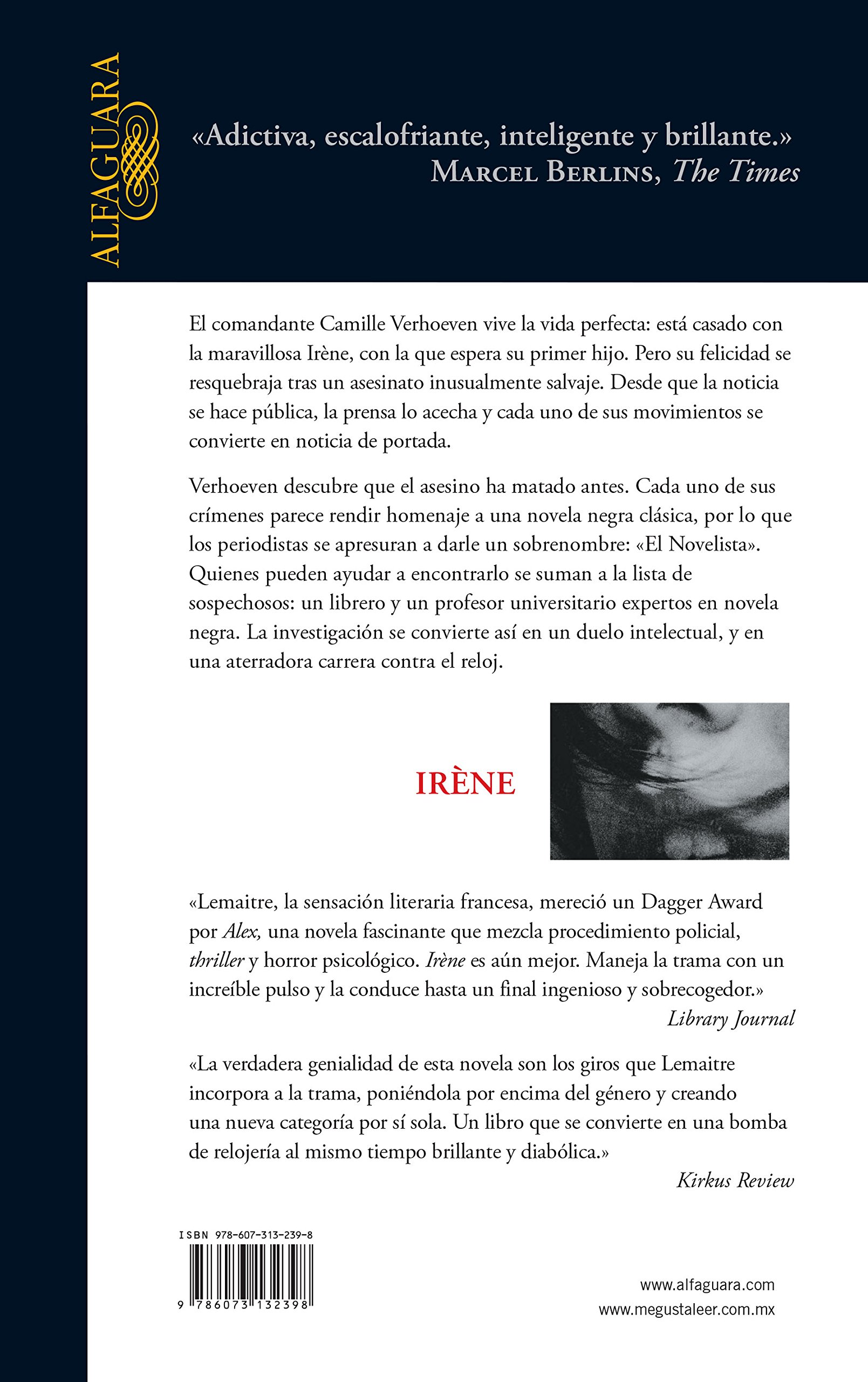 Amazon.com: Irene (Spanish Edition) (9786073132398): Pierre Lemaitre: Books
