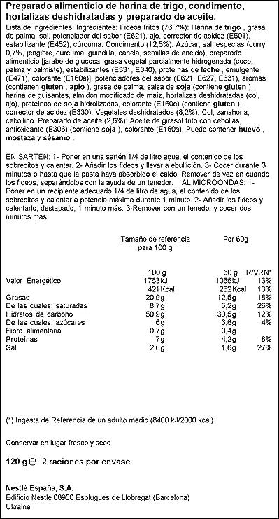 Maggi - Fideos Yakisoba Curry 120 g - [pack de 4]: Amazon.es: Alimentación y bebidas