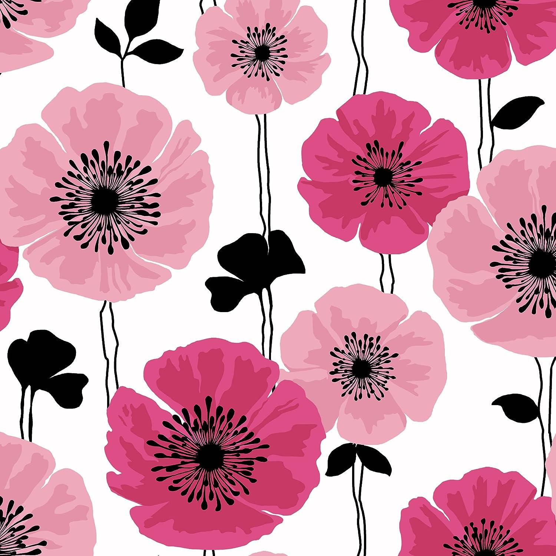 Brewster 2532 20489 Darcy Modern Floral Wallpaper Magenta