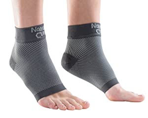 NatraCure Plantar Fasciitis Socks - Compression Foot, Ankle, Heel Sleeves - (Size: Large)