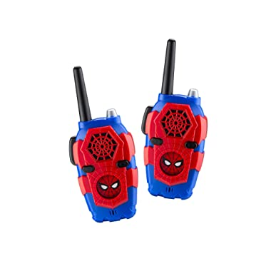 Walkie Talkies For Kids Spiderman Far From Home Kids Walkie Talkies FRS Range Lights & Sound Kid Friendly Easy To Use For Indoor Outdoor Adventures (Frustration Free Packaging)