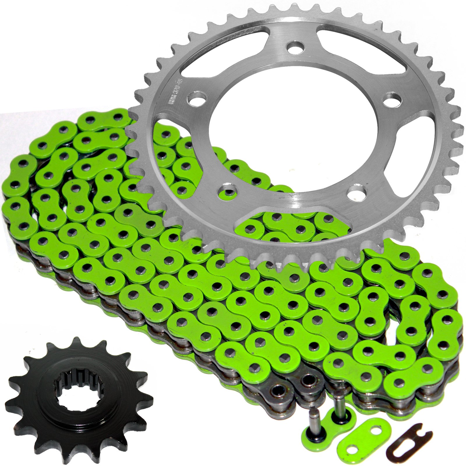 Caltric Green O-Ring Drive Chain & Sprockets Kit Fits HONDA CBR600F2 CBR-600F2 Super Sport 600F2 1991-1994