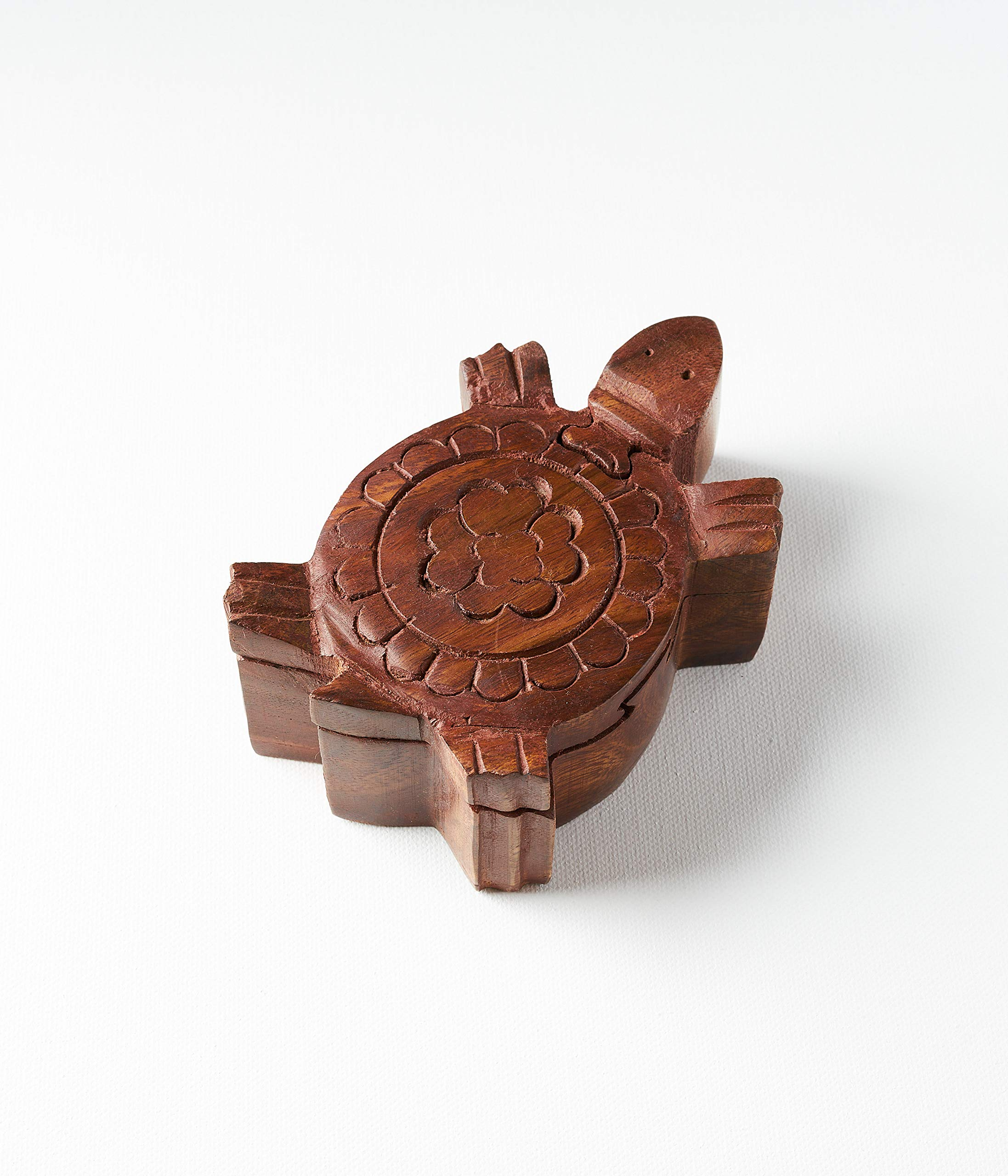 Handmade Wooden Turtle Puzzle Box/Jewelry Box/Stash Box/Brain Teaser with Secret Compartment by Matr Boomie