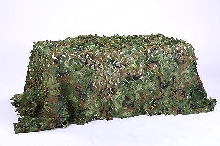 ligera sin rejilla para caza decoraci/ón militar Red de camuflaje a granel enrollado de camuflaje duradera