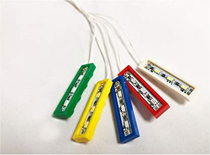 USB LED BRIGHT WHITE LIGHT  3 OFF PARALLEL BRICK 4 X 1 LEGO COMPATIBLE