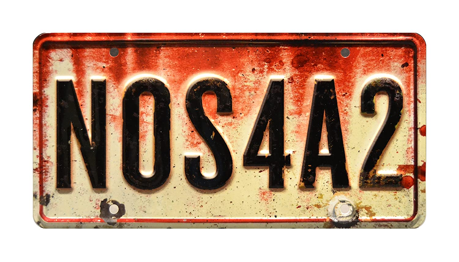 Celebrity Machines Joe Hill Stephen King NOS4A2 Metal Stamped Vanity Prop License Plate Charles Manx/'s Wraith