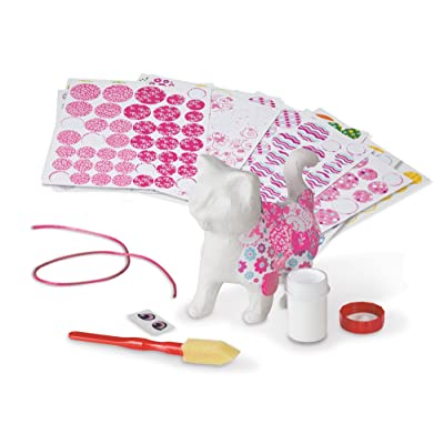 Melissa & Doug Decoupage Made Easy Kitten Paper Mache Craft Kit With Stickers: Toy: Toys & Games