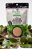 Australian Organic Roasted Carob Powder Superfood, NON-GMO, World's #1 Best Roasted Carob Powder, Vegan, New Generation Carob, 7.05oz. Carobou Truffle Co. Exclusive USA-Canada Importer