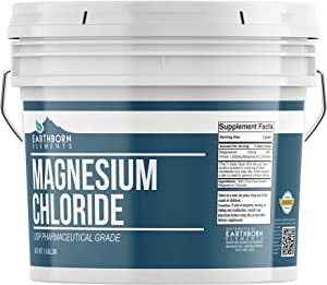 Magnesium Chloride (1 Gallon) by Earthborn Elements, Resealable Bucket, Highest Quality, Edible Oral Supplement, Food & USP Pharmaceutical Grade, Boost Magnesium Levels
