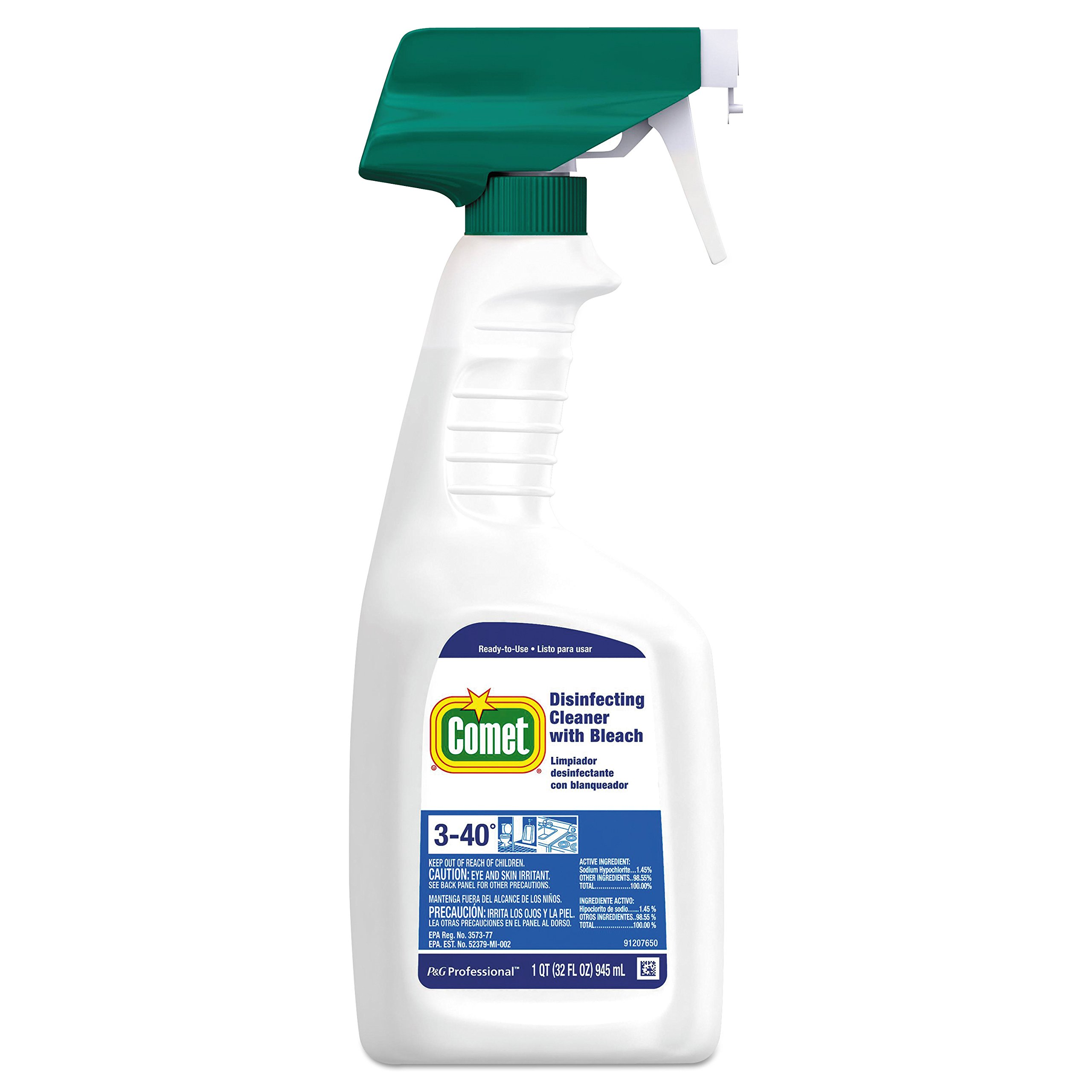 Comet Professional Disinfecting Cleaner Spray with Bleach, 32 oz. (Case of 8)