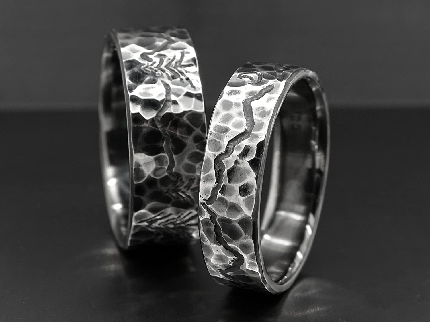 Custom Wedding Rings.Amazon Com Unique Wedding Bands Mountain Range Ring Set Engraved