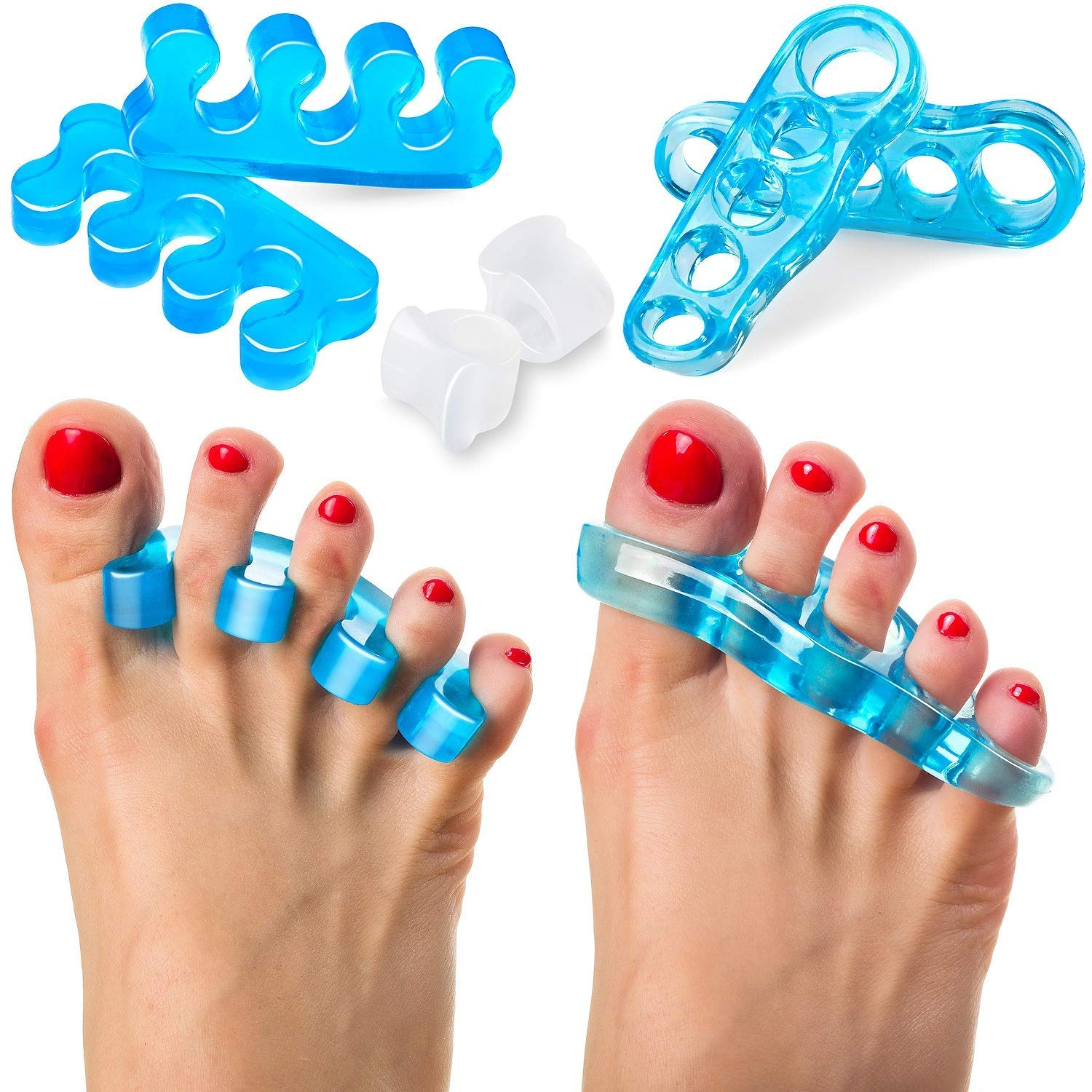 Toe Separators and Toe Streightener Restore Toes to Their Original Shape Gel Toe Stretcher Toe Spacers for Women and Men Hammer Toes Bunion Corrector Relaxing Toes by RAYNA GAMES