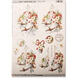 Craft Creations Natale Die-Cut Decoupage, motivo in 3D DCD614 Skates-Pattini da ghiaccio, motivo floreale, formato A4, 210 x 297 mm, creazione Step By Step