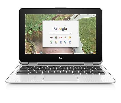 HP Chromebook x360 11-inch Convertible Laptop, Intel Celeron N3350, 4GB  RAM, 32GB eMMC storage, Chrome OS (11-ae040nr, White)