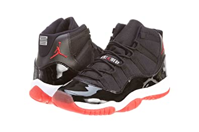 the latest 92b4c f4f9e Nike Boys Air Jordan 11 Retro (GS) Bred Black/Varsity Red-White Synthetic
