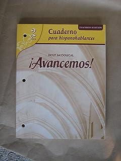 Avancemos teachers edition level 2 2010 holt mcdougal avancemos cuaderno para hispanohablantes workbook teachers edition level 2 spanish edition fandeluxe Choice Image