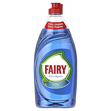 Fairy Extra Higiene Líquido para Lavavajillas Eucalipto - 8 Paquetes de 500 ml - Total: 4000 ml