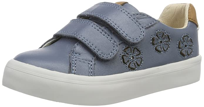 Clarks Brill Jive Inf, Zapatillas para Niñas, Azul (Blue Leather), 28.5 EU
