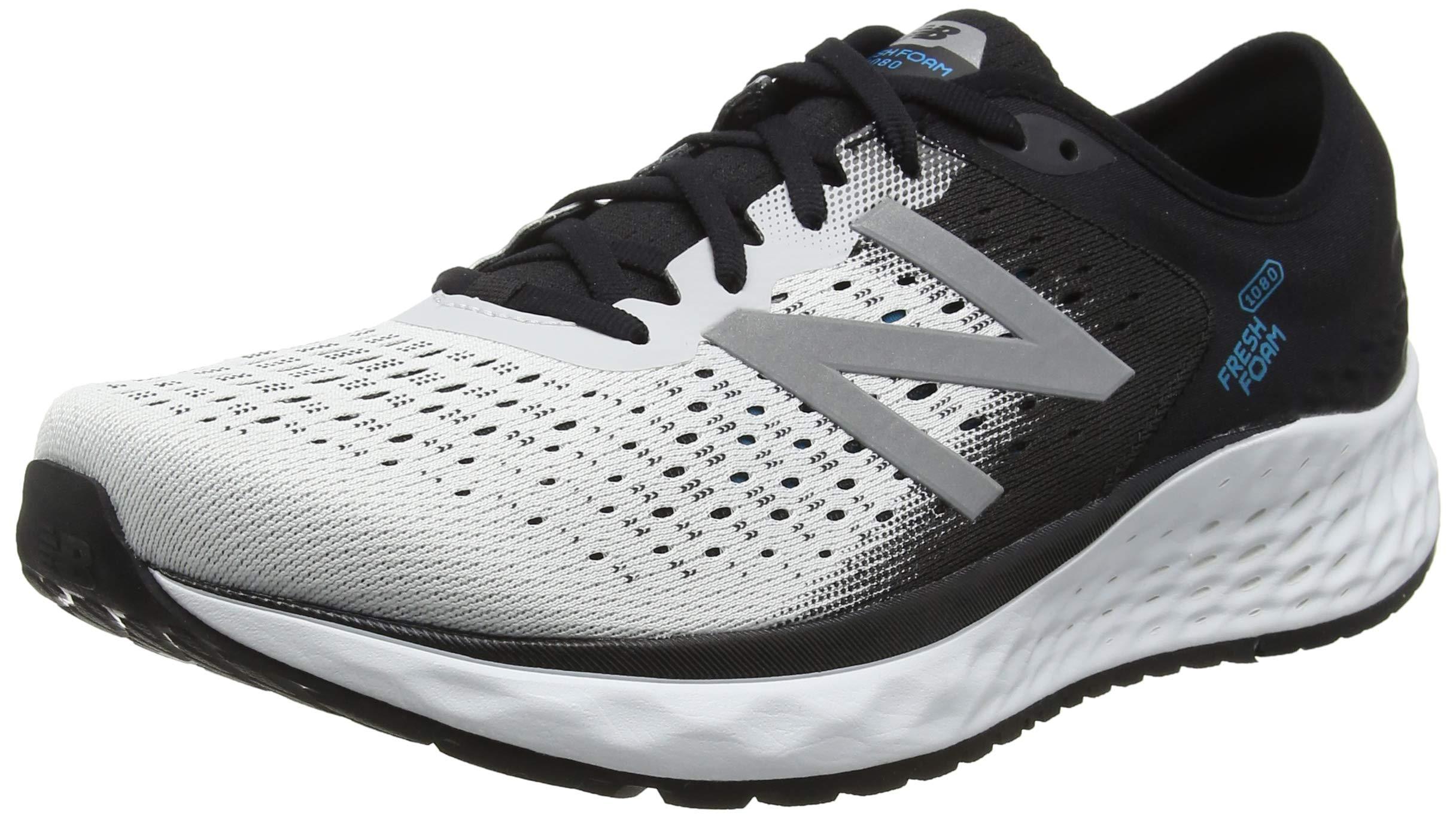 New Balance Men's 1080v9 Fresh Foam Running Shoe, White/Black/deep Ozone Blue, 7 D US by New Balance (Image #1)
