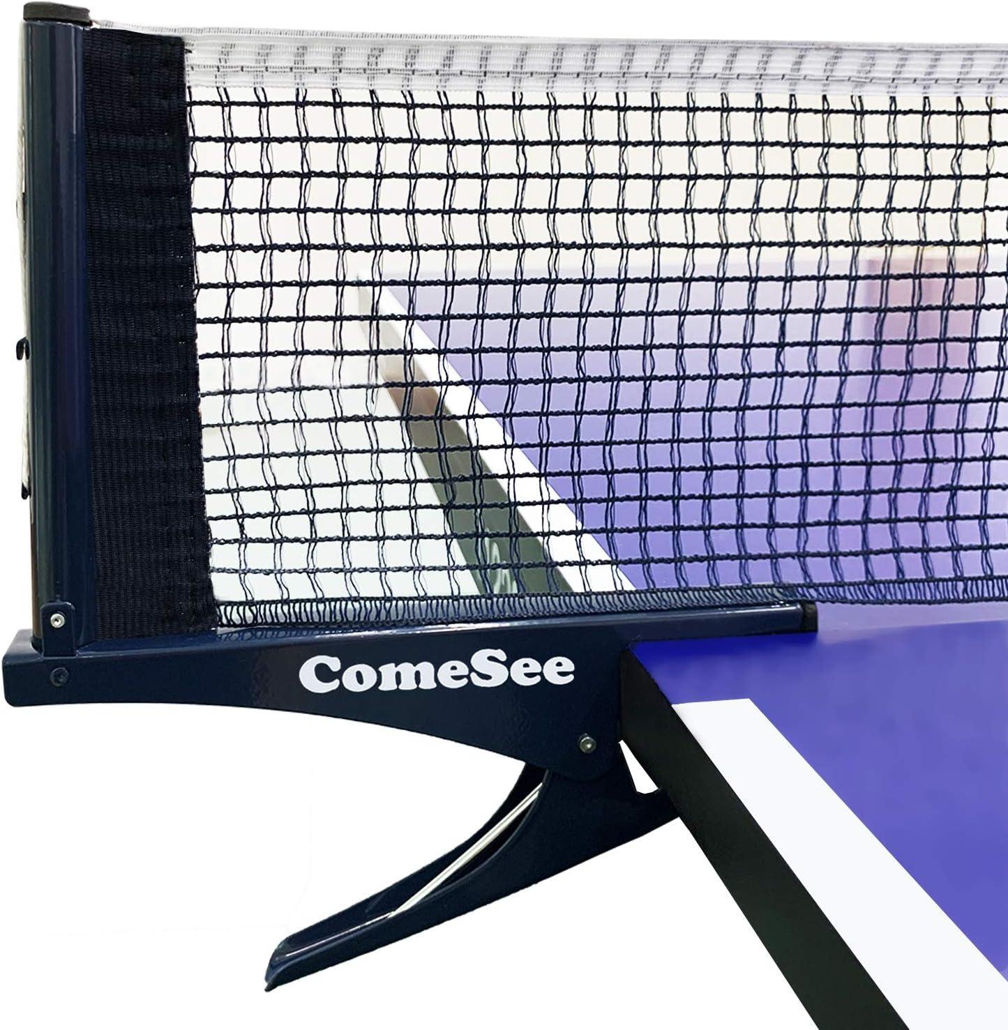 Kioos Red de tenis de mesa acero profesional con pinza de malla para entrenamiento, competición y portátil, red de pinzas