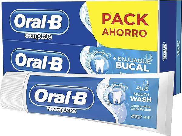 Oral-B Complete Plus Con enjuague bucal Pasta Dentífrica 2 x 75 ml ...