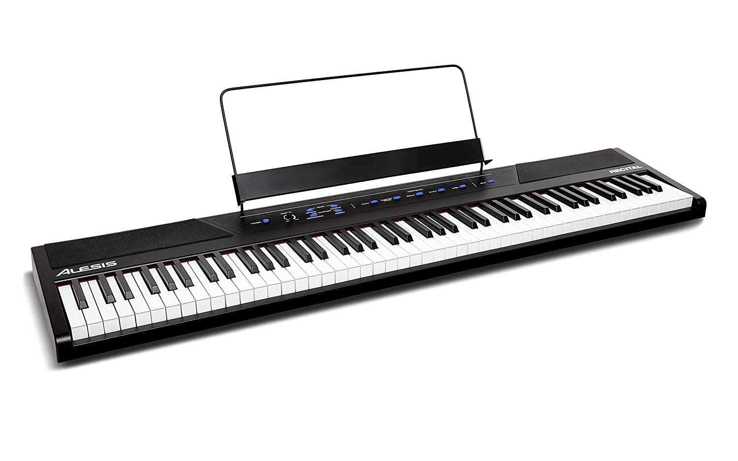 Alesis Recital 88-Key Beginner Digital Piano with Full-Size Semi-Weighted Keys and Included Power Supply