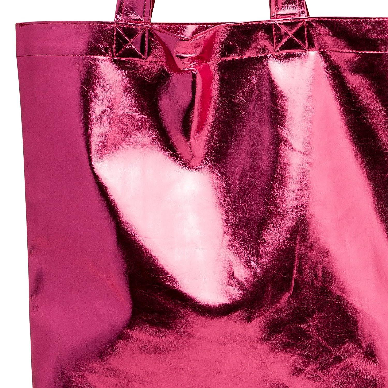 Sac de cours CASPAR TS1047 Sac de shopping m/étallis/é pour femme