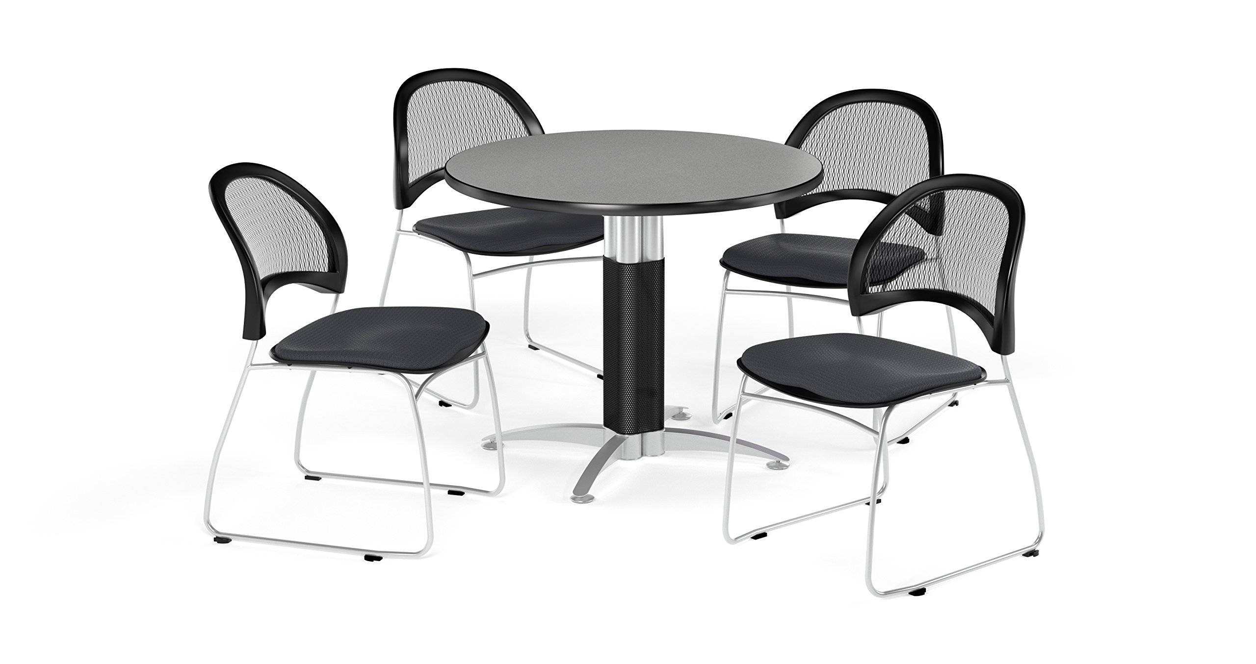 OFM PKG-BRK-175-0028 Breakroom Package, Gray Nebula Table/Slate Gray Chair